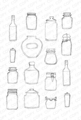 Jars Sketch Drawing