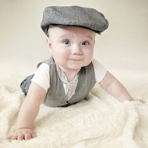 Carson-Cameron-5-month-formal-vest-newsboy-hat-infant
