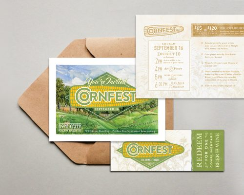 Cornfest Invitation & Event Ticket