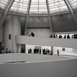 Guggenheim-Museum-Frank-Lloyd-Wright-New-York-City-Aug-2012-bw-1