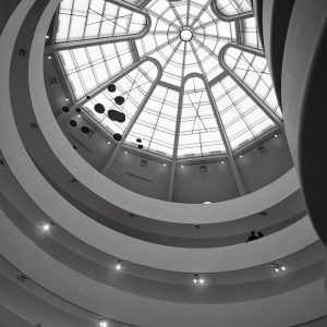 Guggenheim-Museum-Frank-Lloyd-Wright-New-York-City-Aug-2012-bw