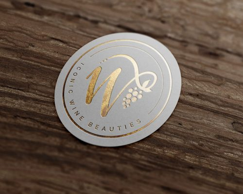 Iconic-Wine-Beauties-gold-foil-logo-mockup-crop