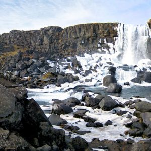 Panorama- Thingvellir-waterfall-in-Iceland-March-2013