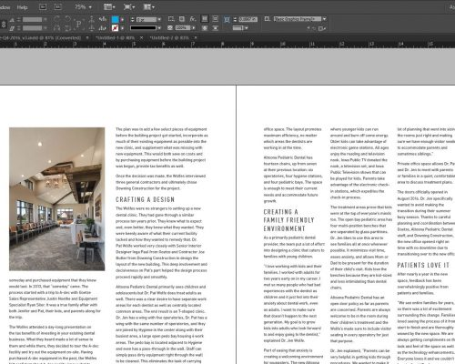 Adobe InDesign – Create a text box (text frame) with multiple columns