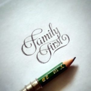 hand-lettering-family-first