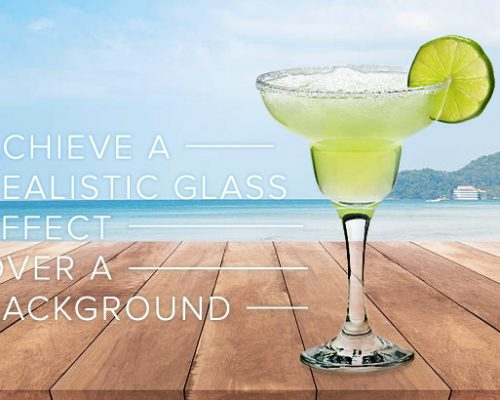 Achieve a Realistic Glass Effect Over a Background Image in Photoshop