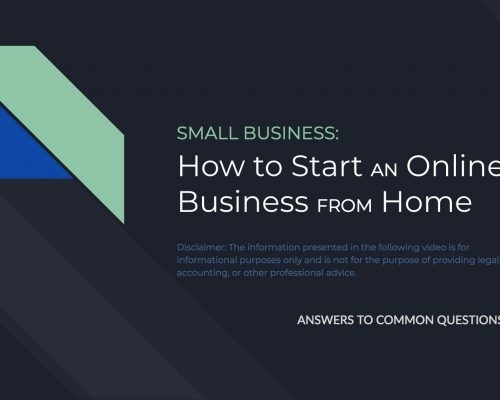 Starting an Online Business from Your Home