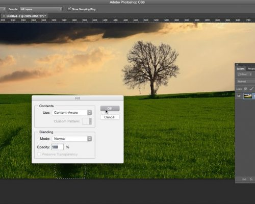 Quickly Use Content-Aware Fill to Remove or Repair an Unwanted Area in Photoshop
