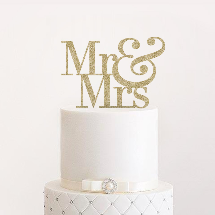 Mr Mrs Wedding Cake Topper Art Design For The Homeart Design For The Home