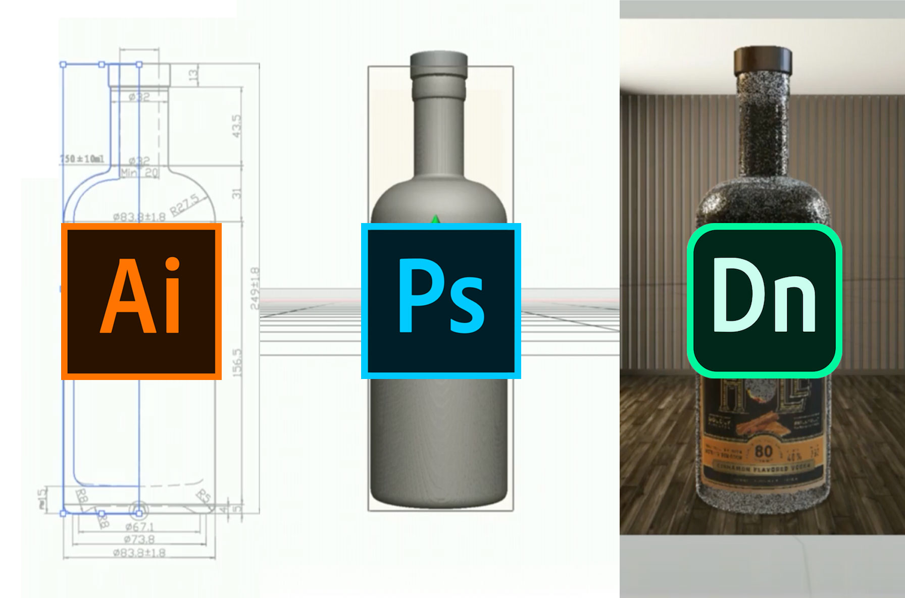 Create 3D objects ( OBJ) using Illustrator & Photoshop for